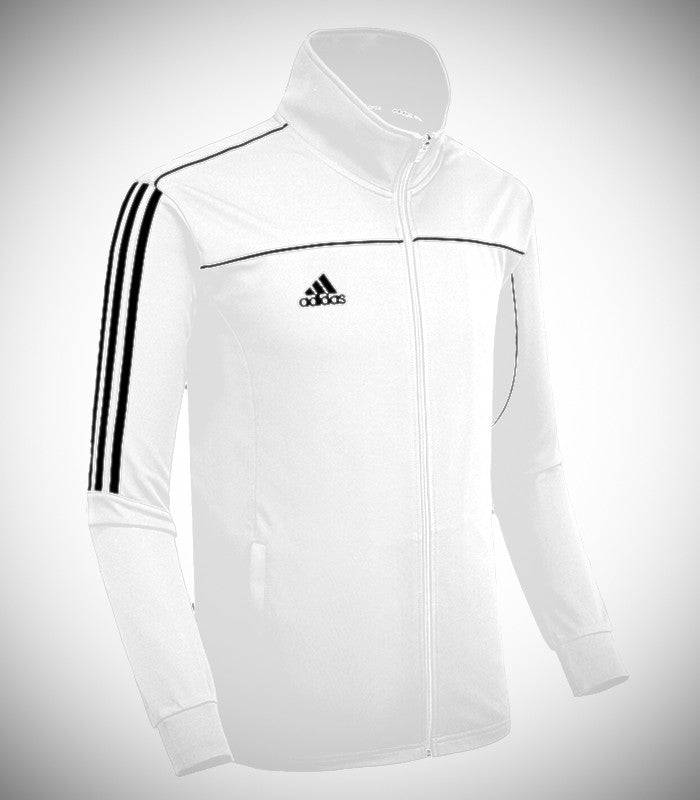 ADIDAS KNEETED TEAM JACKET WHITE/BLACK