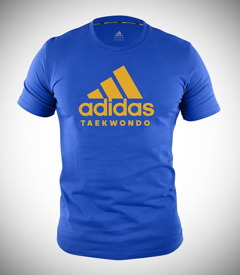ADIDAS TAEKWONDO T-SHIRT LIGHT BLUE/FLUO ORANGE