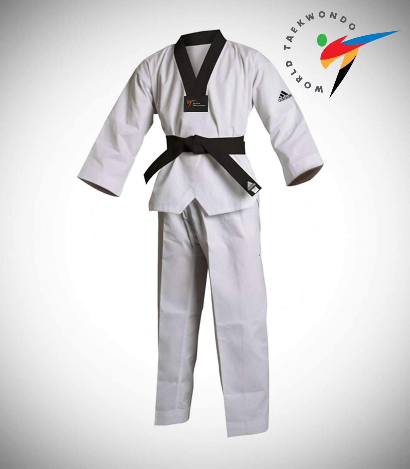 ADIDAS ADI-START BLACK/V TAEKWONDO UNIFORM