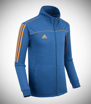 ADIDAS KNITTED TEAM JACKET BLUE/ORANGE
