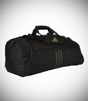 "ADIDAS SPORTS BAG ""TAEKWONDO"" NYLON BLACK/GOLD"
