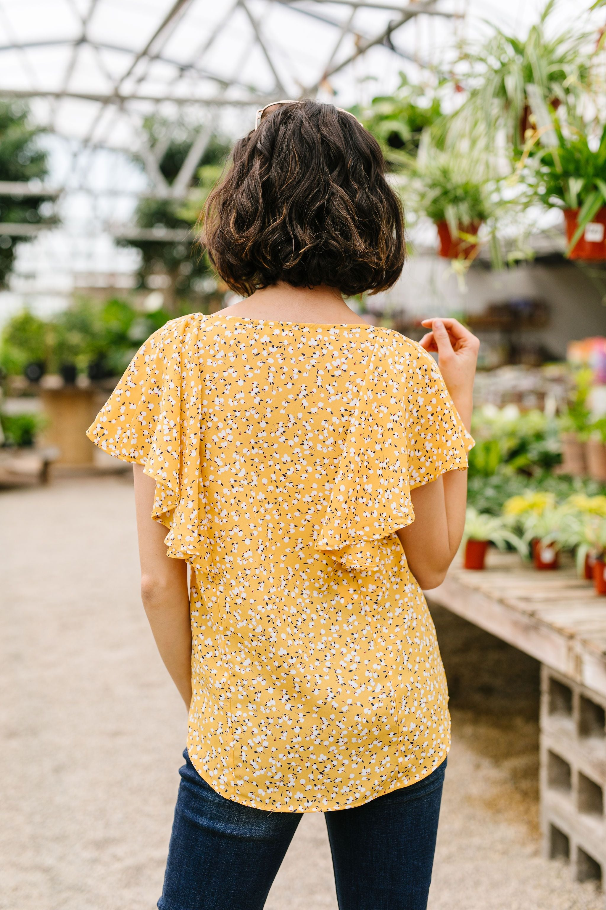 Marigold Ruffled Blouse