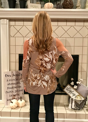 Lilies in the Field Cold Shoulder Top