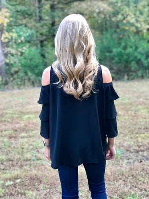Dinner by the Ocean Cold Shoulder Top