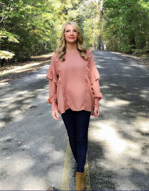 Pretty as a Peach Ruffle Top