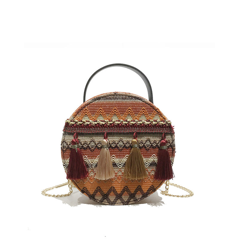 KELSEY PRINT CIRCLE BAG