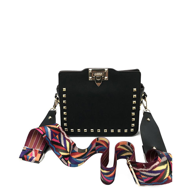 VALENTINA MULTI-COLOR STRAP BAG