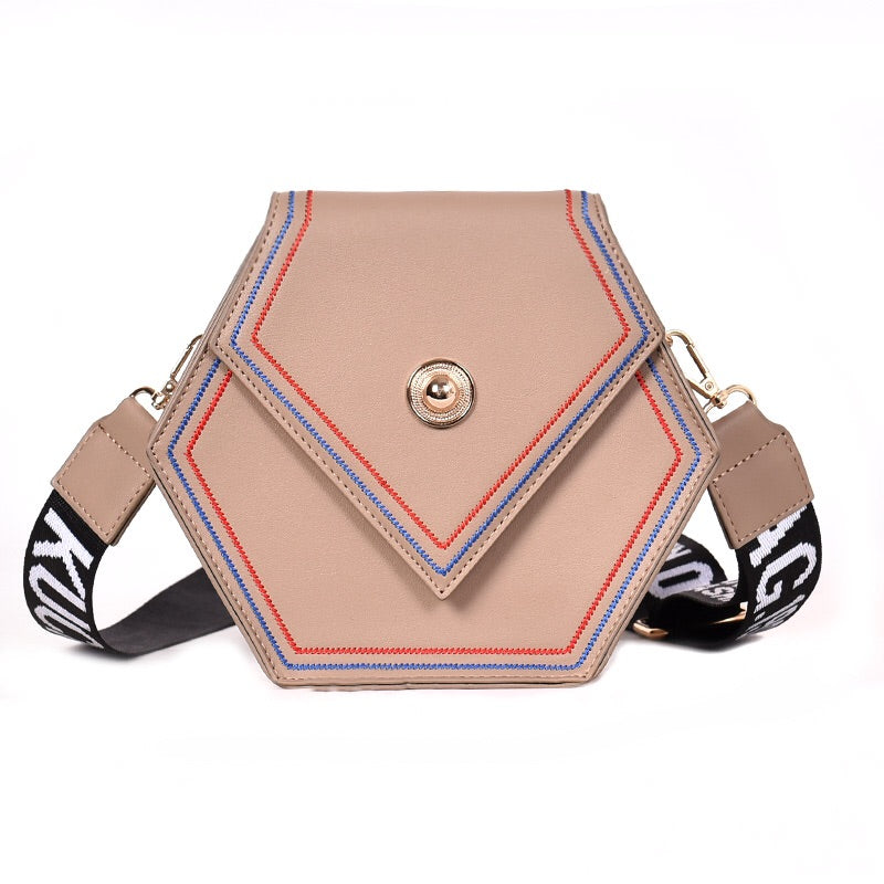Nylon Strap Leather Shoulder Mimi Bag - littlelavish
