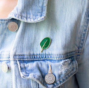 Spinach Enamel Pin