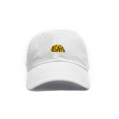 Vegan Taco Hat - White