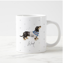 Load image into Gallery viewer, Personalised 11oz Dachshund Mug