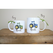 Load image into Gallery viewer, 6oz Plastic Personalised Tractor 6oz Childs Mug