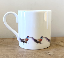 Load image into Gallery viewer, Personalised 10oz Fine Bone China Pheasant Mug