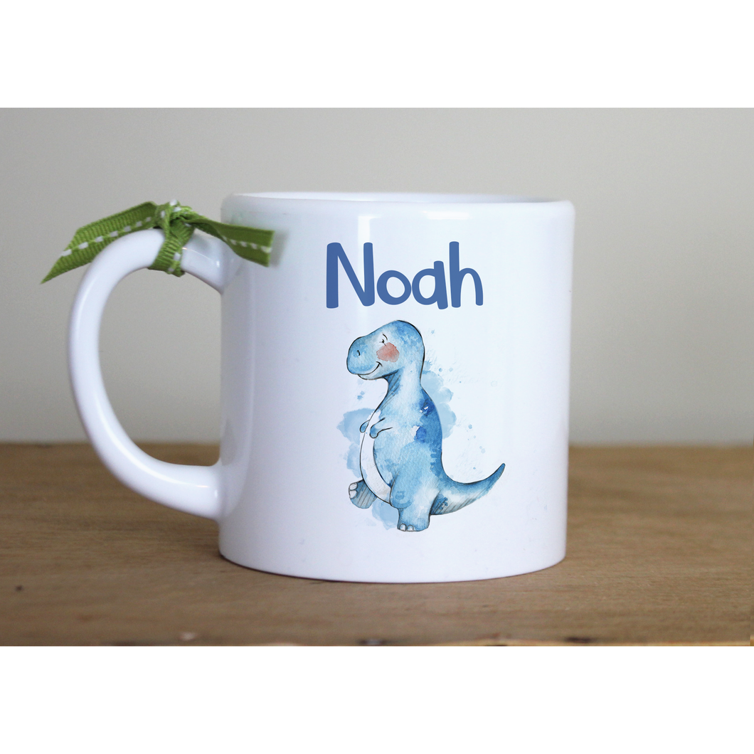 6oz Personalised Plastic Childrens T rex mug