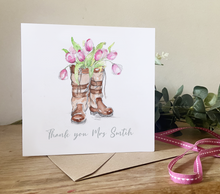 Load image into Gallery viewer, Tulip Boot Thankyou Card