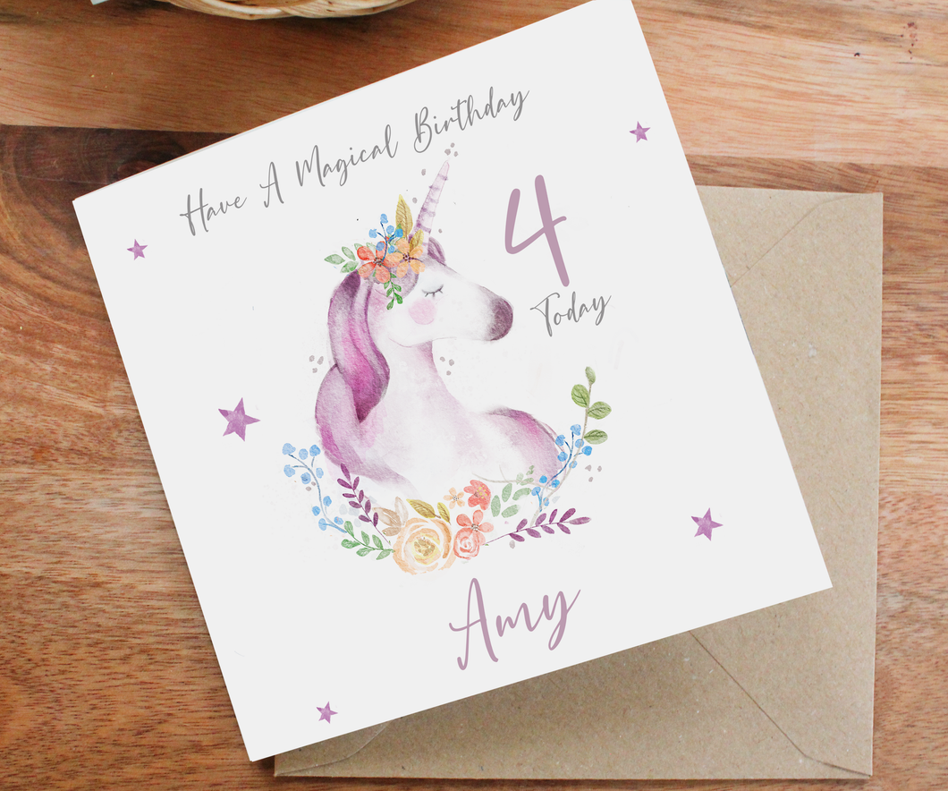 Personlised Unicorn Card