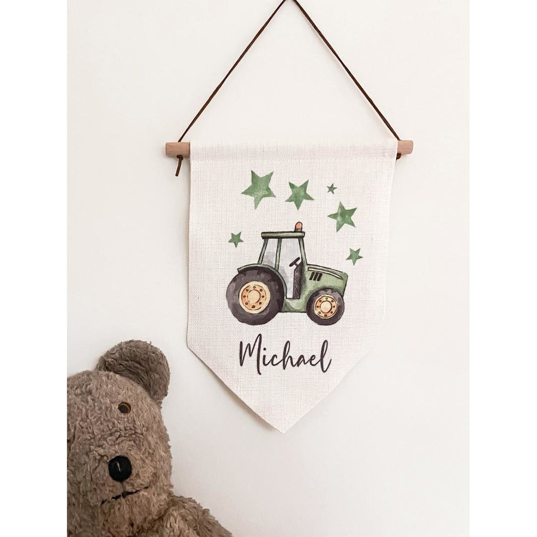 Personalised Tractor Flag