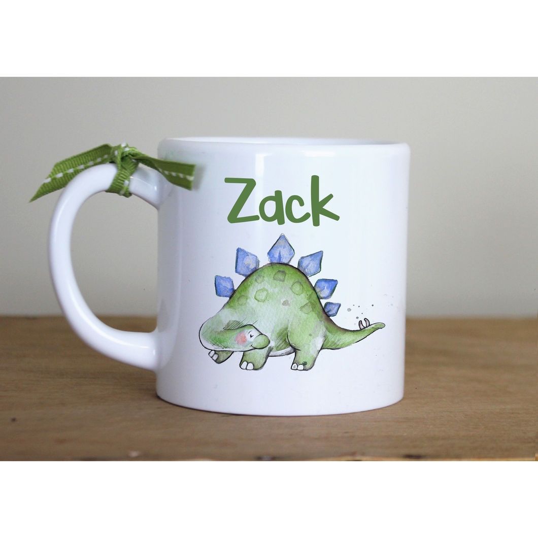 6oz Personalised Plastic Childrens Stegosaurus mug