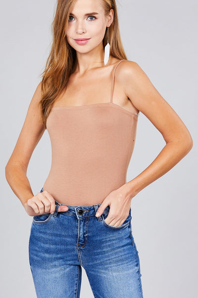 Straight Neck Cami Bodysuit