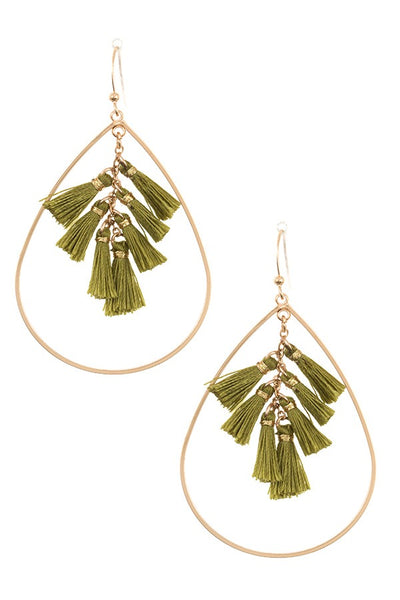 Tasseled Teardrop earrings