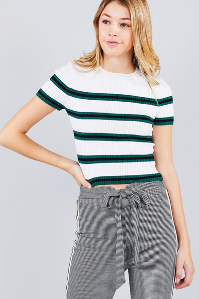 Ribbed Sweater Like Top