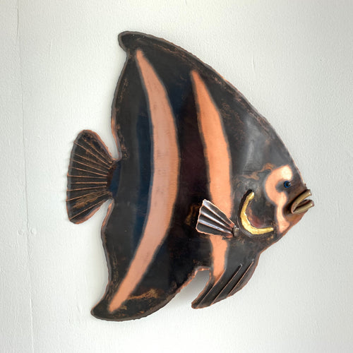 Angel fish copper artwork