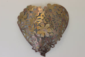 Gold lace copper heart