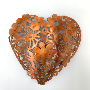 Bronze lace copper heart