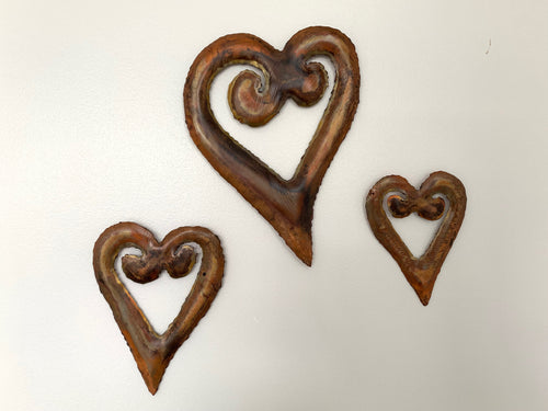 Koru heart copper set