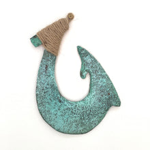 Load image into Gallery viewer, Maui hook green patina