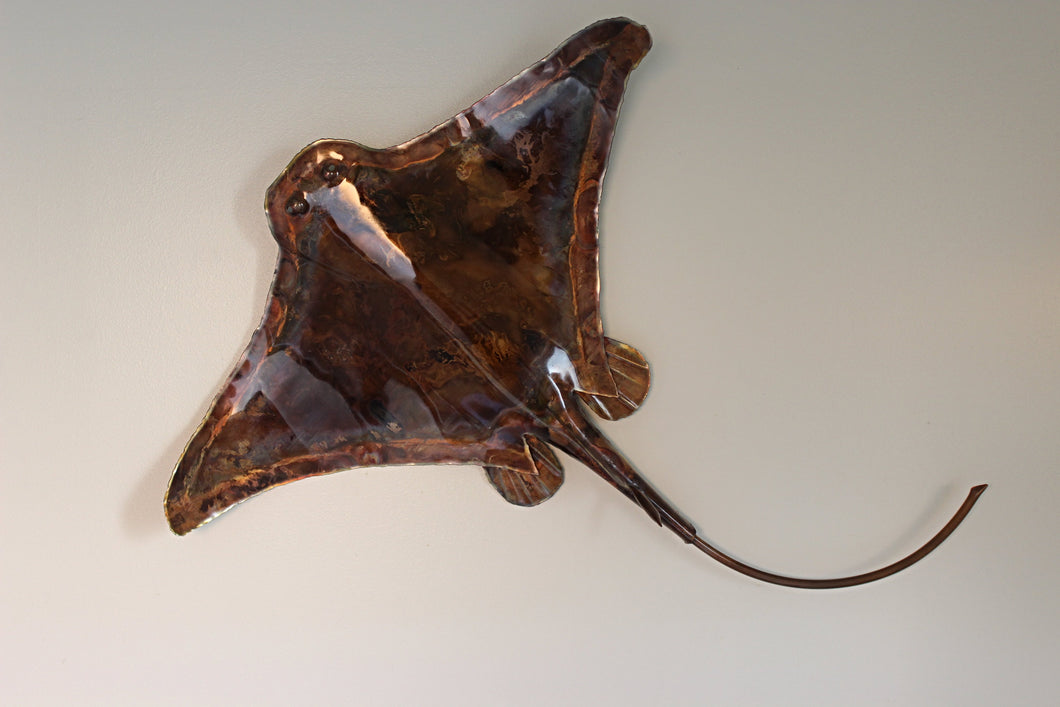 Copper Stingray Wall Art