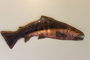 Copper trout artwork for fisherman