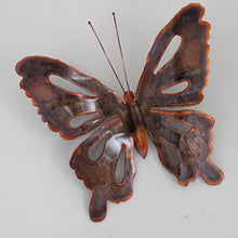 Load image into Gallery viewer, Copper Butterfly Wall Art