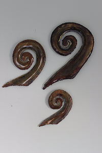 Copper koru set of three