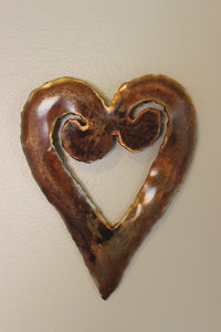 Copper Heart Koru Wall Art