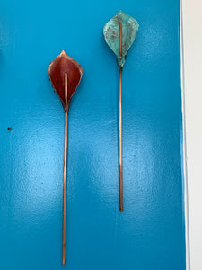 copper and patina single lily