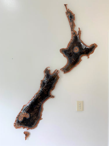 Extra large New Zealand copper artwork