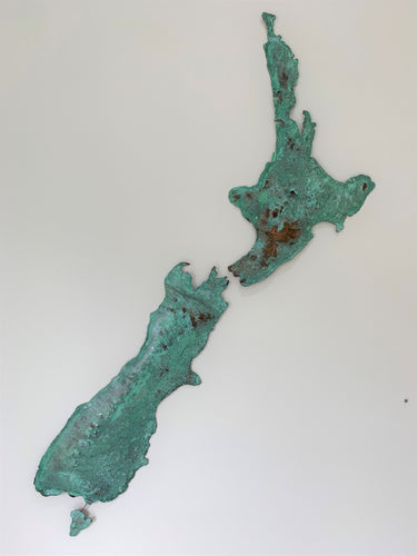 Copper New Zealand Maps Wall Art
