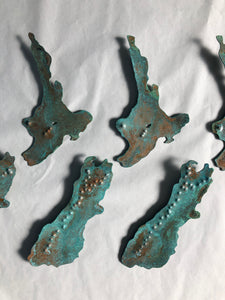 Copper Small New Zealand Maps Wall Art