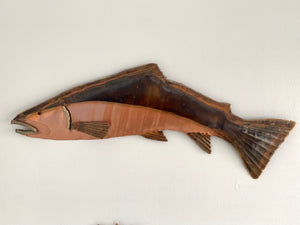 Copper trout artwork