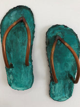 Load image into Gallery viewer, Copper Patina Jandals Wall Art
