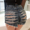 1pcs High waist Sexy Denim broken hole Skinny super sexy short jeans