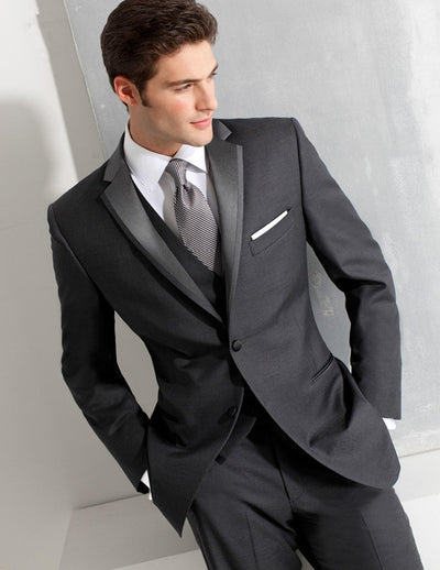 Custom Made Tuxedos  Men Suits with pants Slim Fit (Jacket+Pants+Vest+Tie)