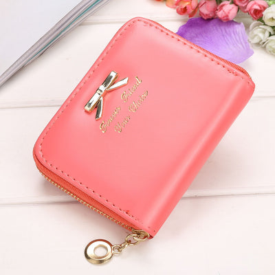 Wallet Women Bowknot Small Purse PU Artificial Leather