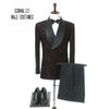 Men's Double Breasted Groom Tuxedos(Jacket+Pants+Tie)