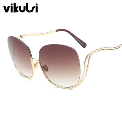 Rimless Gradient Sunglasses Women Luxury Brand Designer