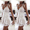 White lace dress sleeveless mini length dress