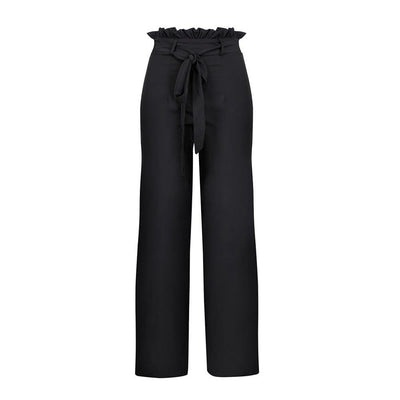 Pink White Army Green Black Four Colors High Wasit Solid Casual Loose Pants