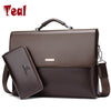 Business Men Briefcase Bag Leather Black Luxury Designer Laptop Bag