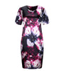 Fashion Brand  O Neck Print Flower  Casual Knee Length Dress Plus Size 6XL